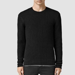 All Saints Men's Kargg Crew Sweater in Black
